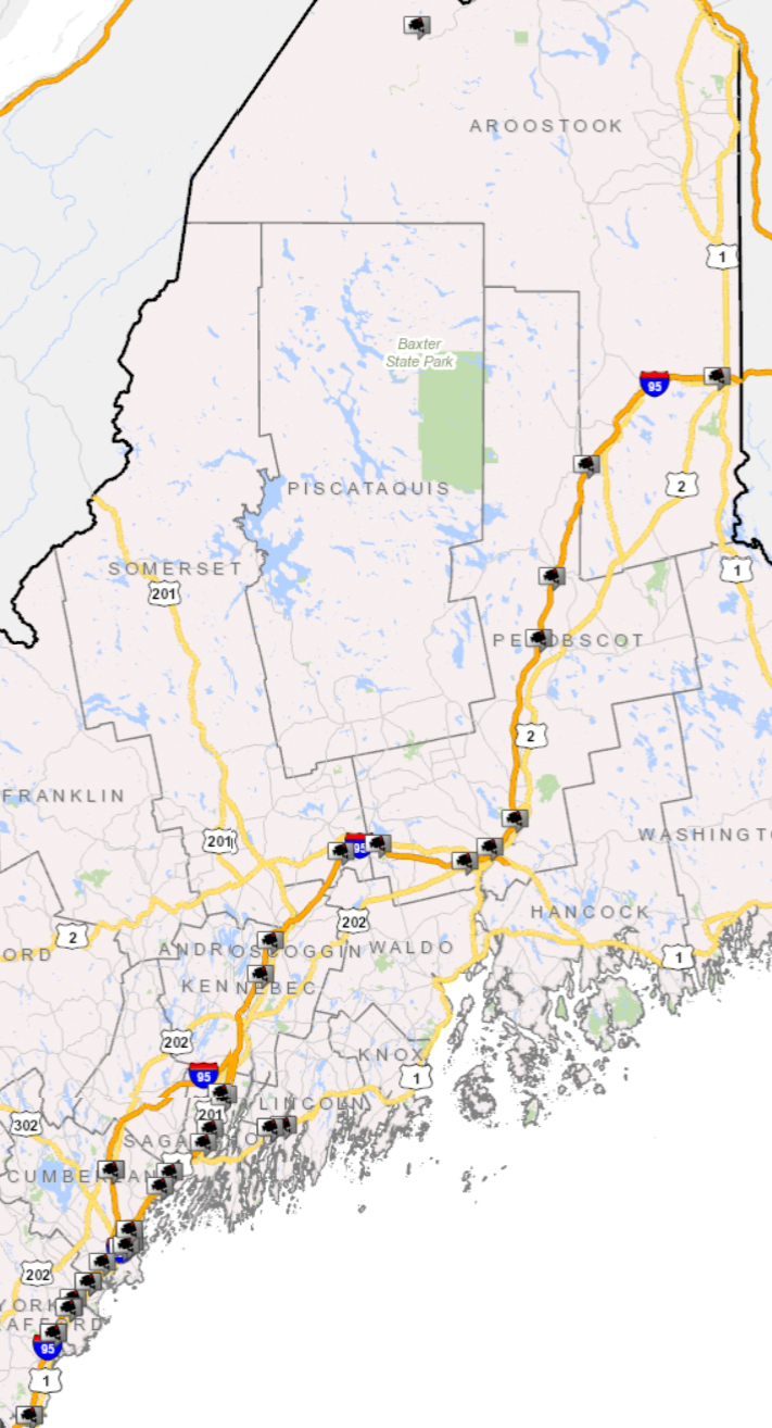 Traffic Map 95.Maine Traffic Cams Live Traffic Cameras In Me